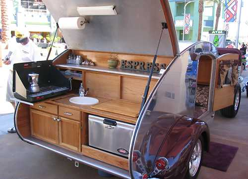 Question about your shade structure and hauling it eplaya for Camper kitchen designs