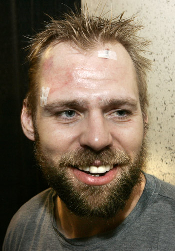 Tomas Holmstrom looks like a goat